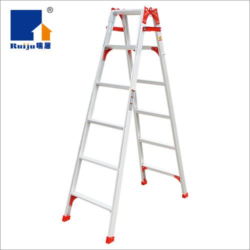 瑞居家用梯两用梯加厚人字梯铝合金多功能折叠梯