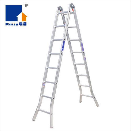 两关节铝合梯梯子