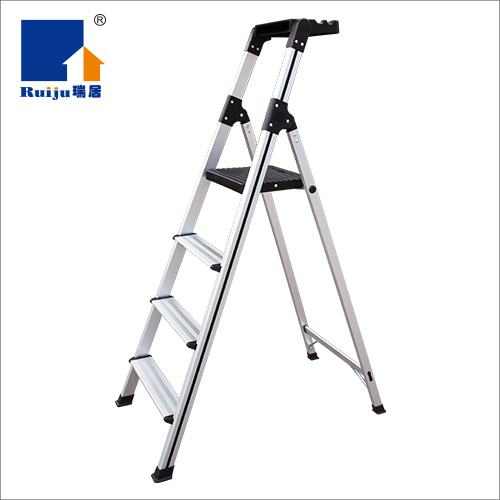 瑞居家用折疊人字梯寬踏梯鋁合金梯工具梯YQJT-V